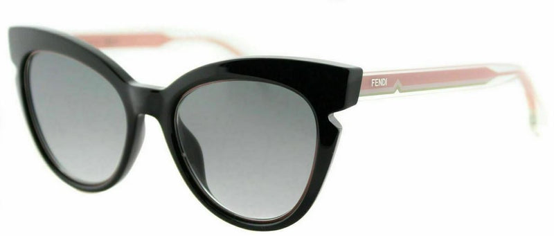 Fendi Sunglass Cat Eye Style FF 0132 N7A Black Crystal Pink Color | Grey Lens