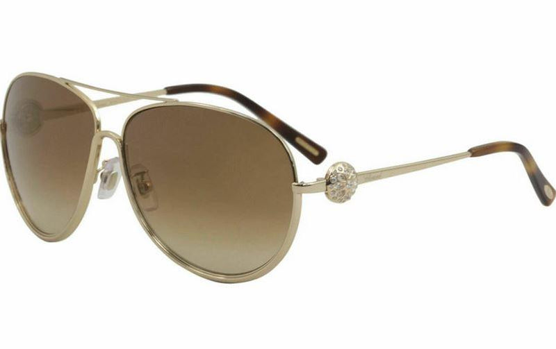 Chopard Women's SCHB23S SCHB/23/S 300G Rose Gold Fashion Pilot Sunglass 62mm