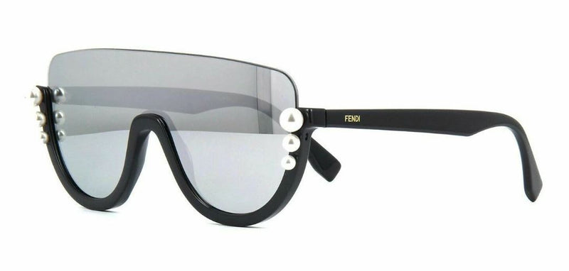 Fendi Sunglass Shield Style FF-0296-S - Silver / Grey Mirrored Lens