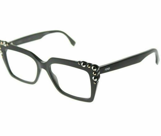 Fendi Sunglass Can Eye Square Style FF 0262-807 - Black Plastic Frame