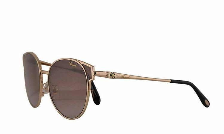 Chopard Sunglass SCHC 21S 0300 56-17-135 Gold / Brown Gradient Made in Italy