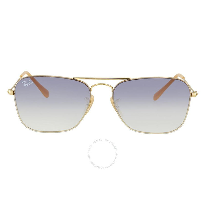 Ray-Ban Sunglass Pilot Style Gold Frame Color Blue gradient Lens - RB3603 001/19