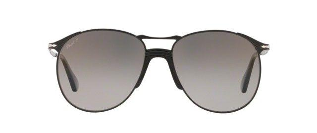 Persol Sunglass | Aviator Style Black Grey Dark Grey Gradient/Polarized PO2649S 1078M3 55MM