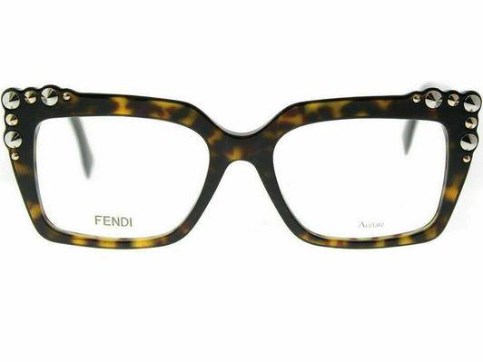 Fendi Eyeglass - Square Style FF0262 086 51 Dark Havana Plastic Frame with Demo Lens