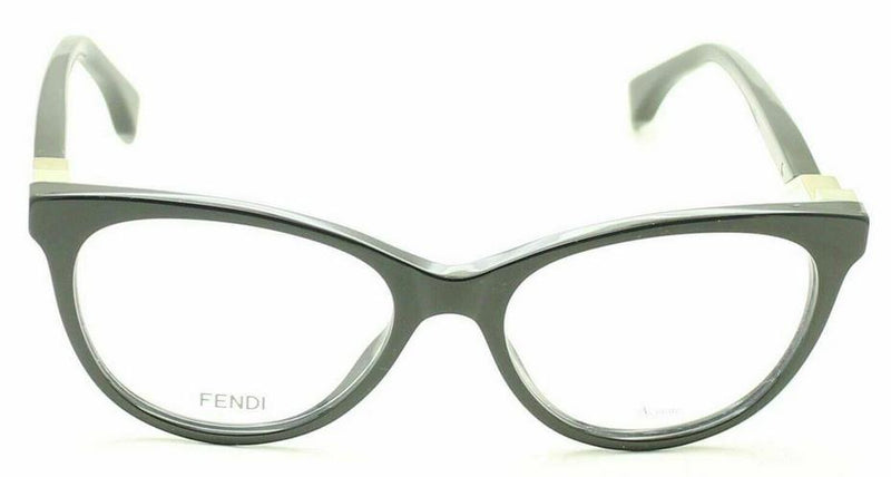 Fendi Eyeglass Cat Eye Style FF0201 807 52MM Black Color | Women Eyeglass