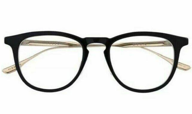 Dita Eyeglass - Oval Style Plastic Frame with Demo Lens - Falson DTX105-01A BLK-GLD49mm