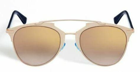 Christian Dior Sunglass Reflected Aviator Style Gold Copper / Blue Color | Dior 321/0R