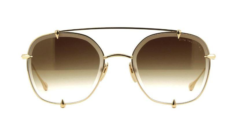 Dita Sunglass - Talon-Two Round Style Gold Tone Color Gradient Lens | 23009-D-GLD-AMB