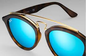 Ray-Ban Sunglass Gatsby II Matte havana Fame Color Light Green Blue Lens  - RB4257 609255