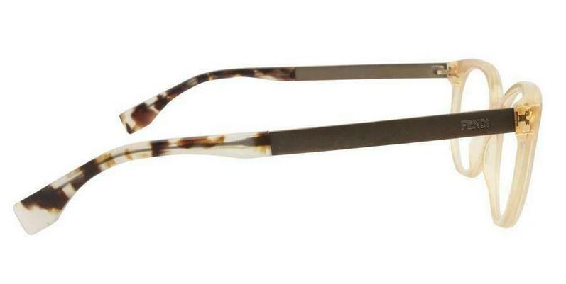 Fendi Eyeglass Cat Eye Shape - FF0079 E0O 53 Beige / Marrone Color Eyeglass