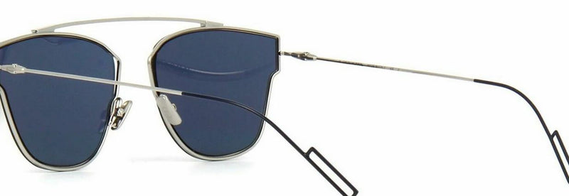 Christan Dior Sunglass Aviator Style Blue Lens - Unisex sunglass Palladium Frame CD 0204s 57mm