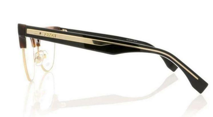 Fendi Eyeglass Cat Eye Style - FF 0163 FF0 Havana Cyclamen Gold Color Eyeglass