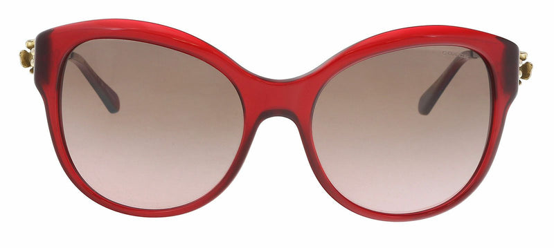 Coach Sunglass | Cat Eye Style Burgundy Light Gold Gradient HC8189 541914 55MM