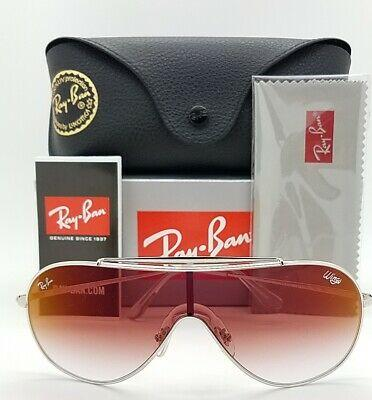 Ray-Ban Sunglass Single lens Silver Frame Color Red Lens - RB3597 003/V0