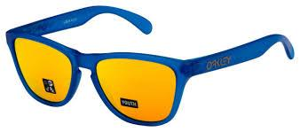 Oakley Sunglass Frogskins Cat Eye Style Blue Color Gold Lens - OJ9006-0453