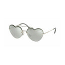 Miu Miu Sunglass | Heart Style Forever In Love Silver / Grey Mirrored MU62US 1BC1I2 58MM
