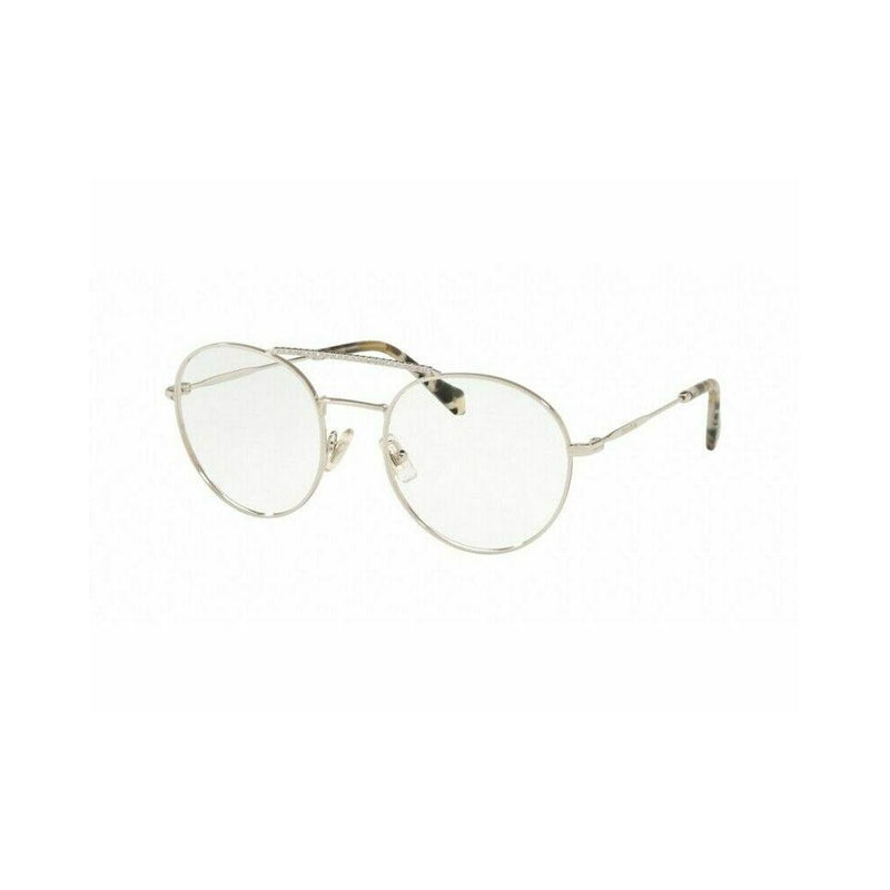 Miu Miu Eyeglass | Round Shape Silver / Demo MU51RV 1BC1O1 52MM
