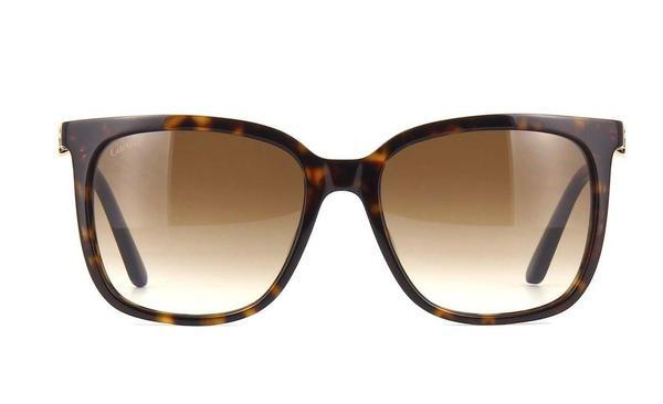 Cartier Sunglass CT0004S 002 55 Signatuer C DE Square Style | Brown Lens