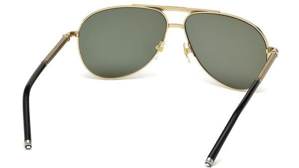 Mont Blanc Sunglass Aviator Style Gold frame Polarized Lens | MB 517S 28R