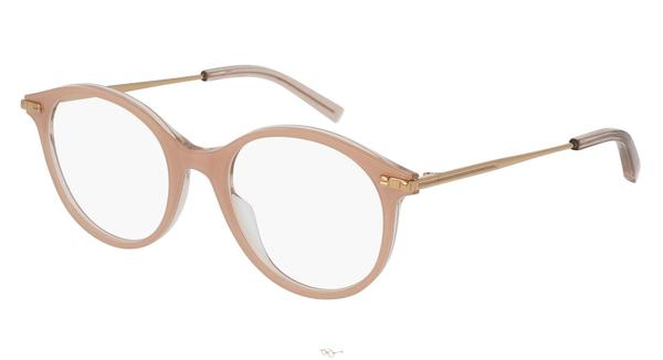 Boucheron Eyeglass Round Style Nude Gold Frame Color | BC0038O 003 50MM