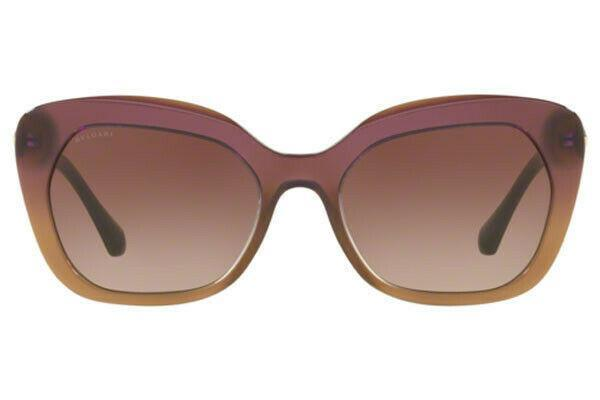 Bvlgari Sunglass | Cat Eye Style Violet Gradient/Brown BV8213B 546313 55MM