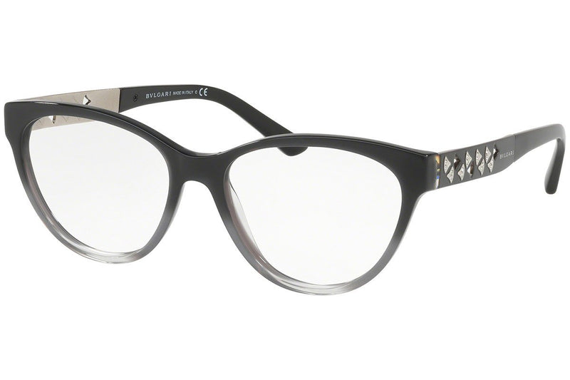 Bvlgari Eyeglass | Cat Eye Style Black Grey Gradient / Demo BV4154B 5437 52