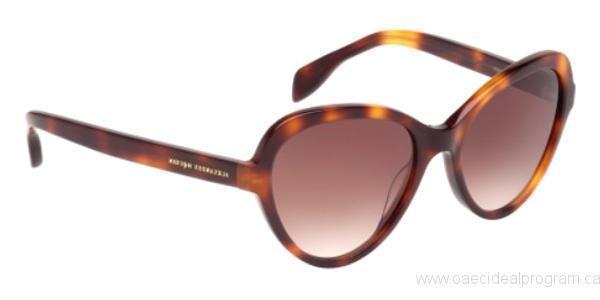 Alexander McQueen Sunglass Cat-Eye Style with Brown Gradient Lens AM0029S-002