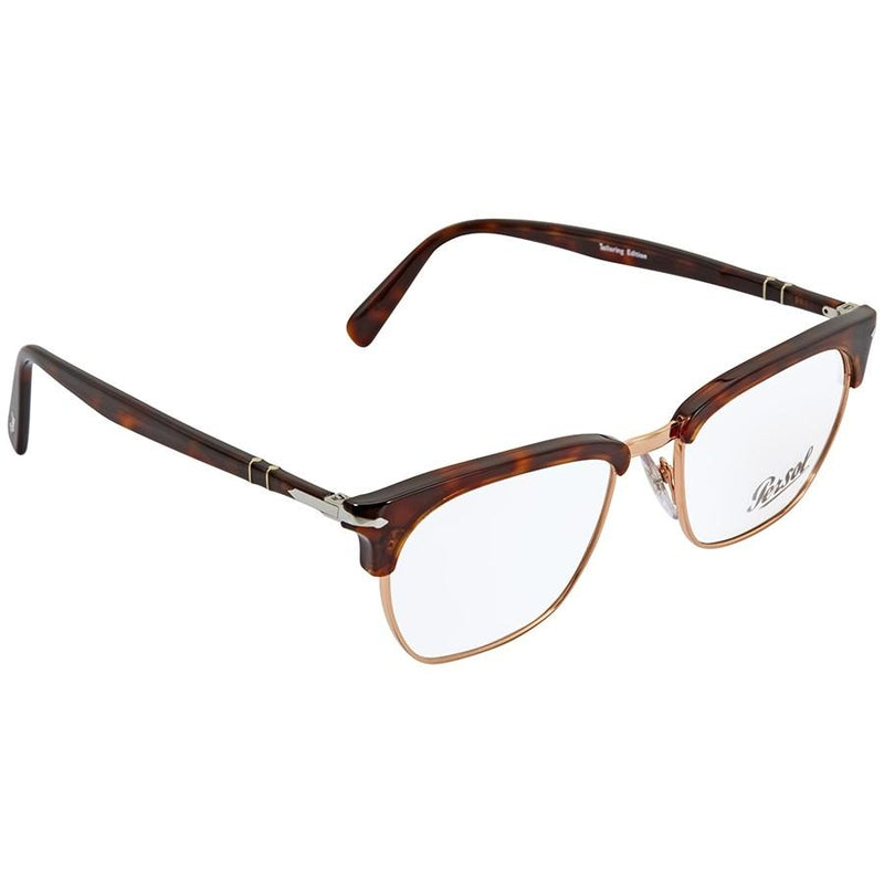 Persol Eyeglass | Square Style Havana Gold / Demo PO3196V 24 53MM