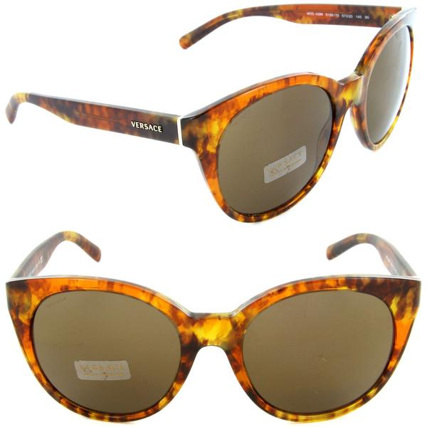 Versace Sunglass Cat-Eye Style Brown Lens -VE4286 5126/73 57mm