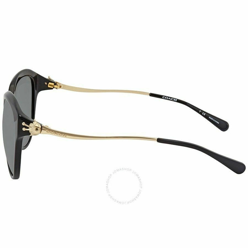 Coach Sunglass | Cat Eye Style Black/Light Gold Gradient HC8189F 530887 55MM