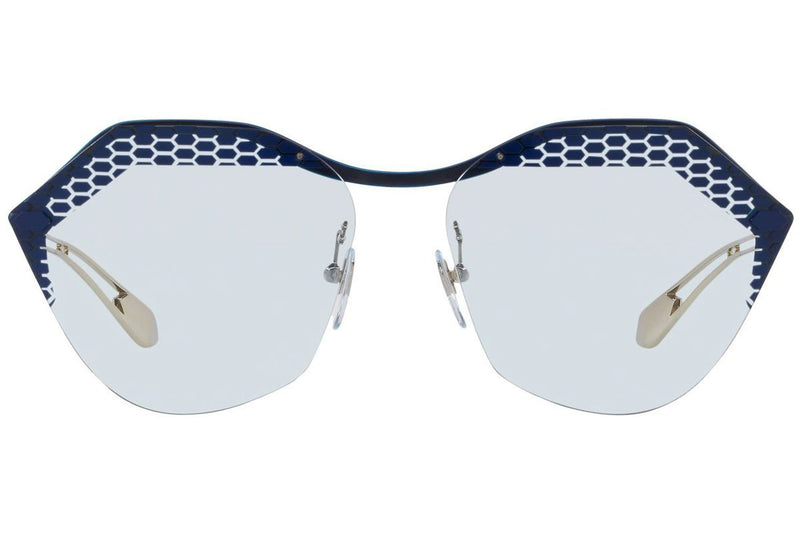 Bvlgari Sunglass | OverSized Style Matte Blue Jeans/Pale Gold BV6109 205172 62