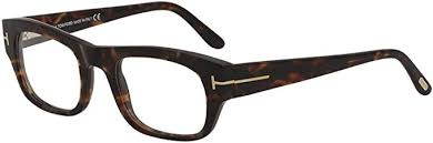 Tom Ford Rectangular Style Havana Frame Color Demo Lens - TF5415 050