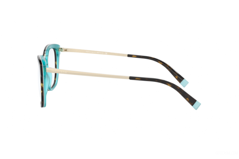 Tiffany & Co Eyeglass | Square Shape Havana / Crystal Blue TF2186 8275 52