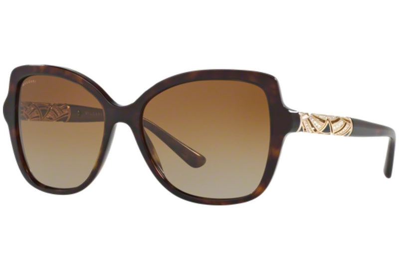 Bvlgari Sunglass | Square Style Havana / Brown Gradient BV8174B 504/T5 56MM