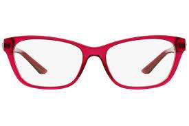 Versace Eyeglass Cat Eye Style Red Crystal Frame Color | VE3220-5097