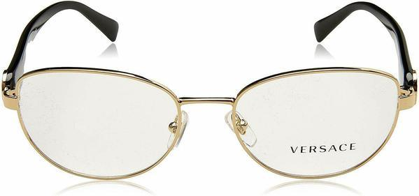Versace Eyeglass Oval Style Demo Lens - Women Eyeglass Pale Gold Frame VE1246B 1332