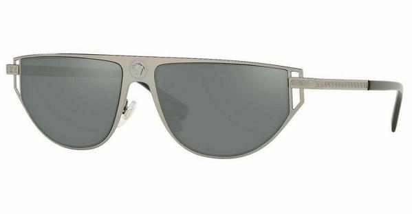 Versace Sunglass - Pilot Style Gunmetal Frame / Grey Mirrored Silver Lens - VE2213 10016G 57mm