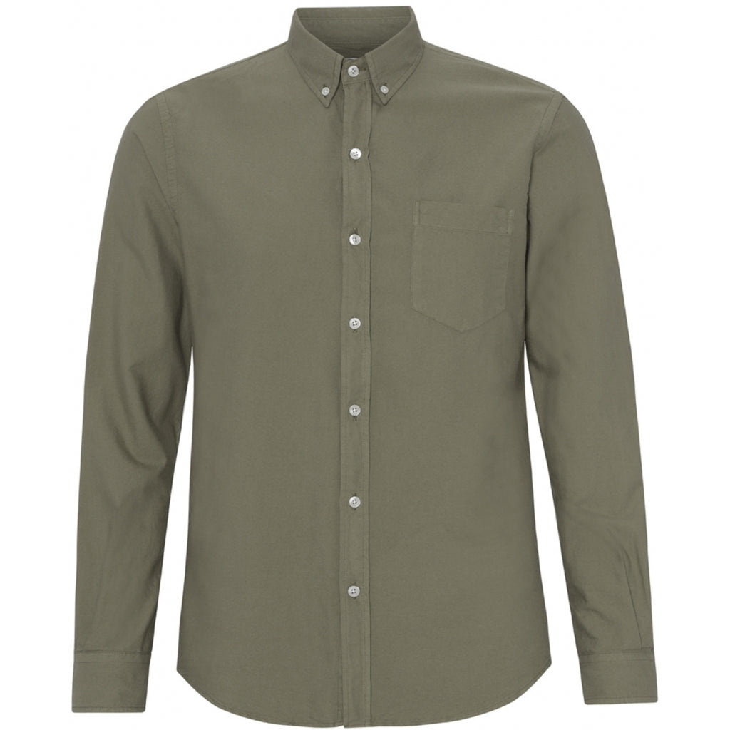 Colorful Standard / Organic Button Down Shirt / Dusty Olive
