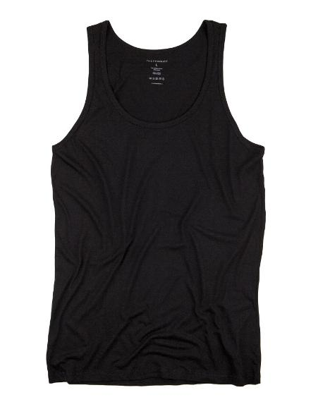The Product // Bamboo Singlet - Black