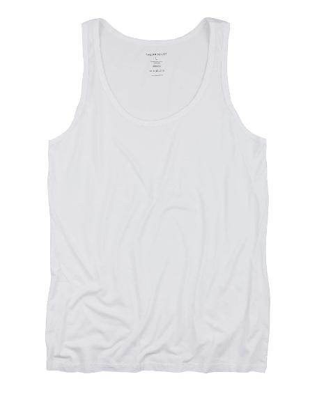 The Product // Bamboo Singlet - White