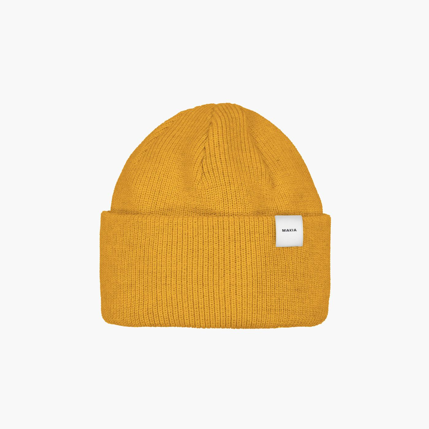 Makia // Merino Thin cap - Yellow