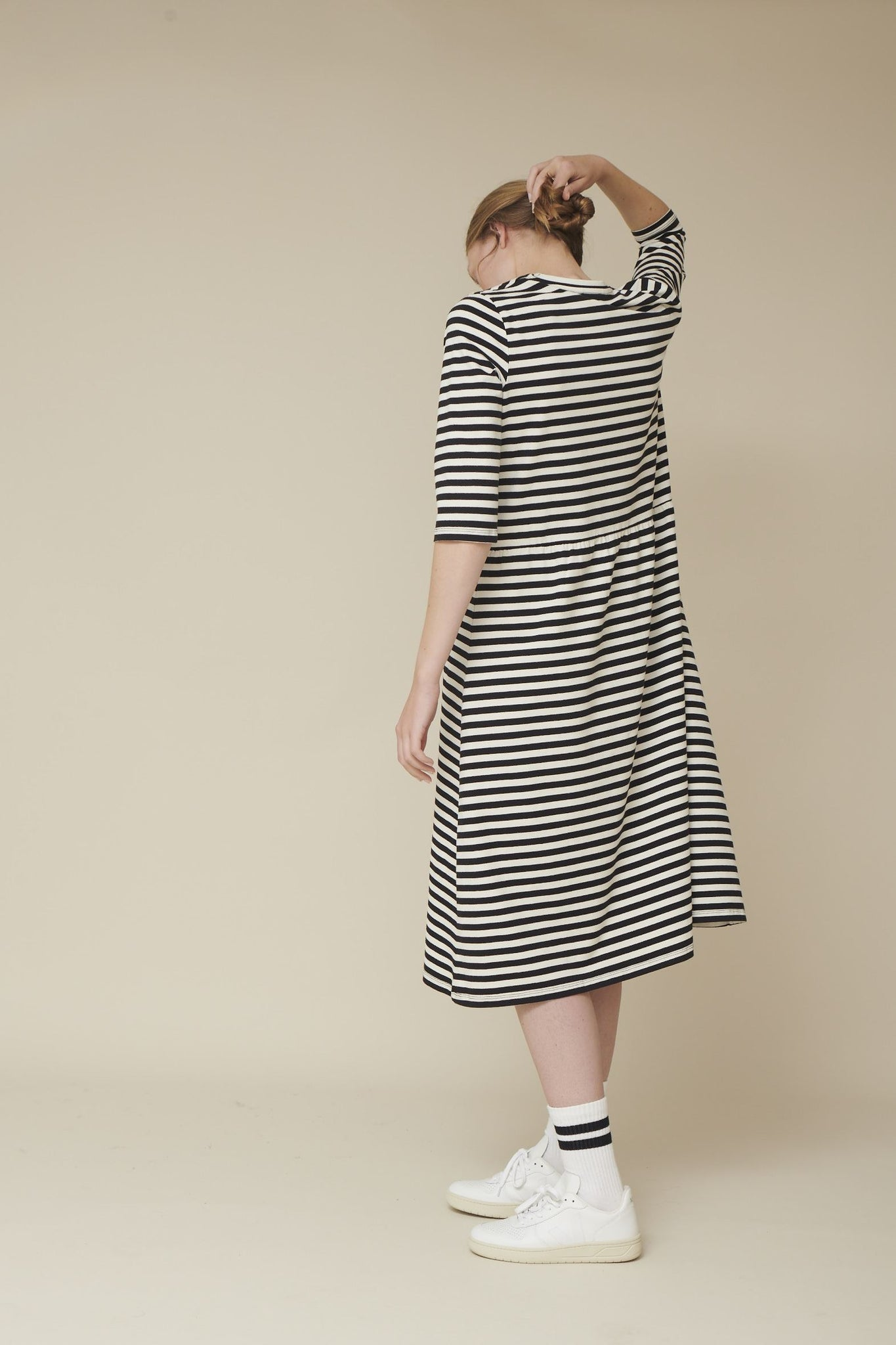 Basic Apparel // Elba dress - black / offwhite stripe