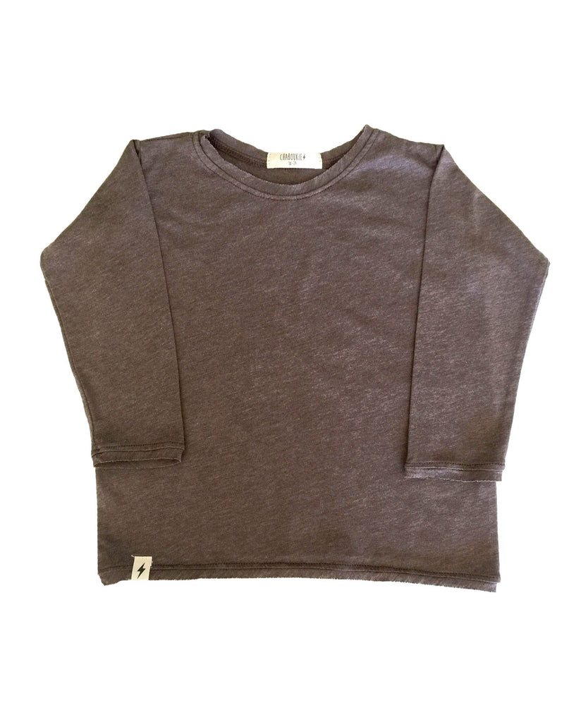 Long Sleeve t-shirt in Chocolate