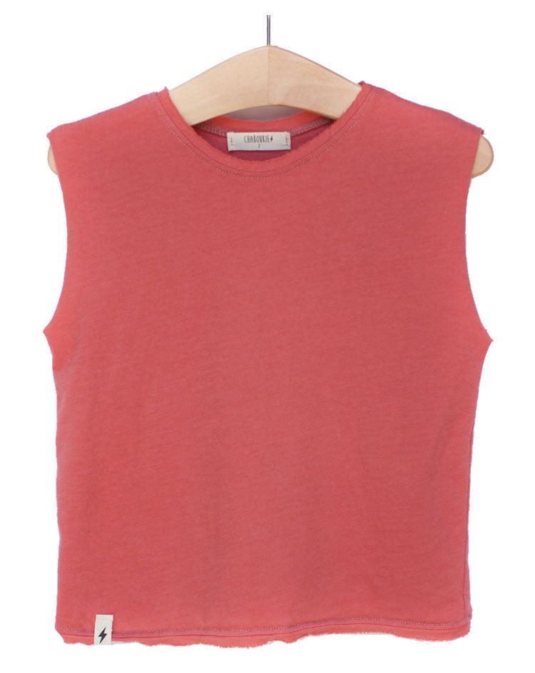 Muscle Tee in Coral