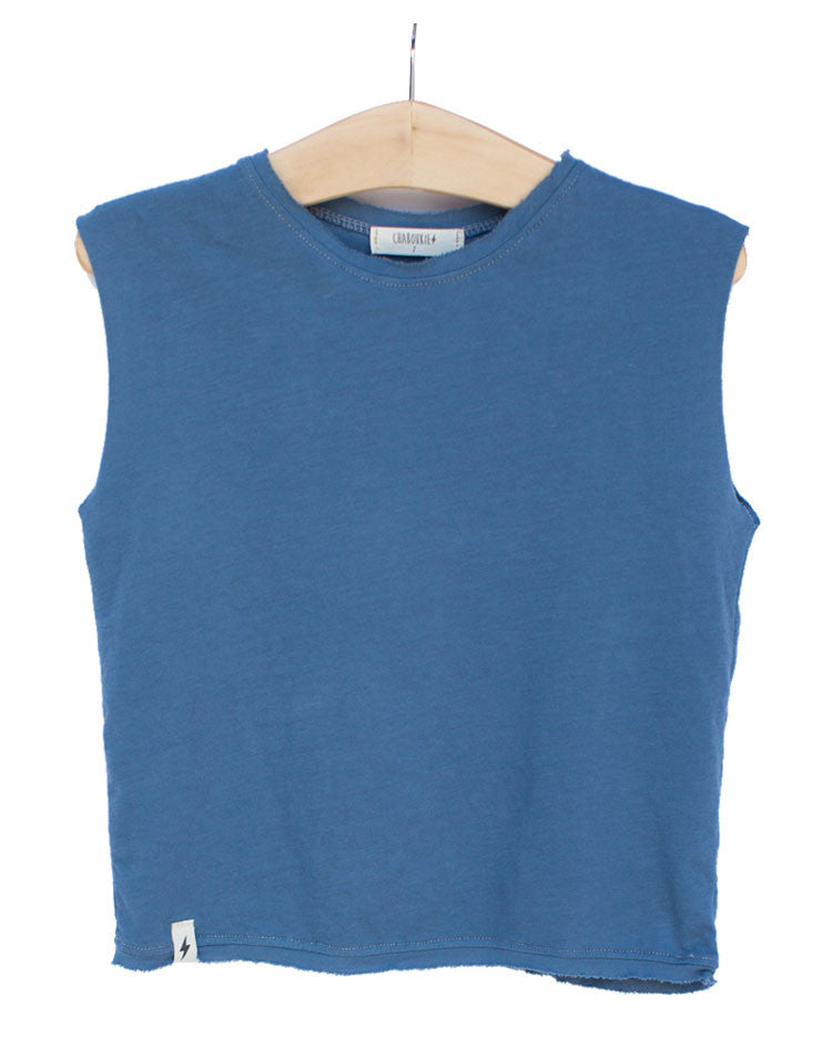 Muscle Tee in Indigo