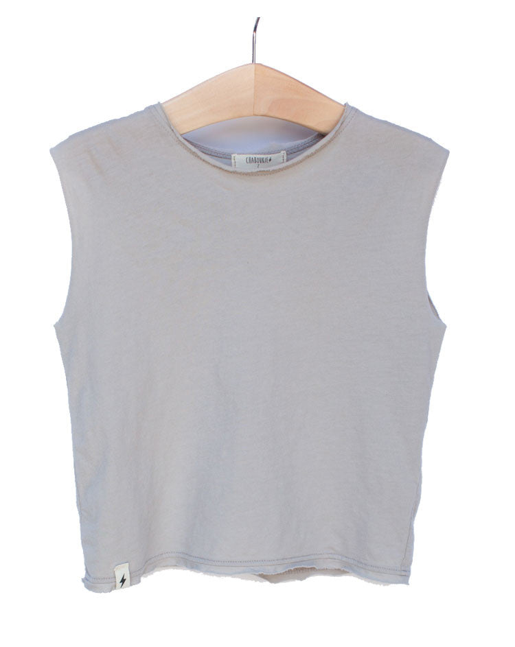 Muscle Tee in Stone