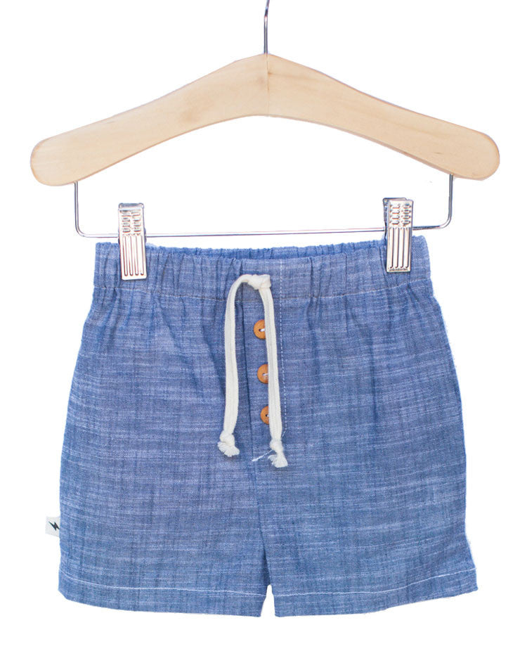Shorts in Downtown Chambray