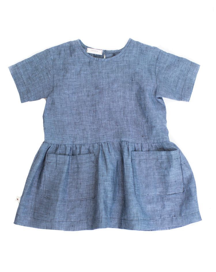 Slouch Dress in Blueberry