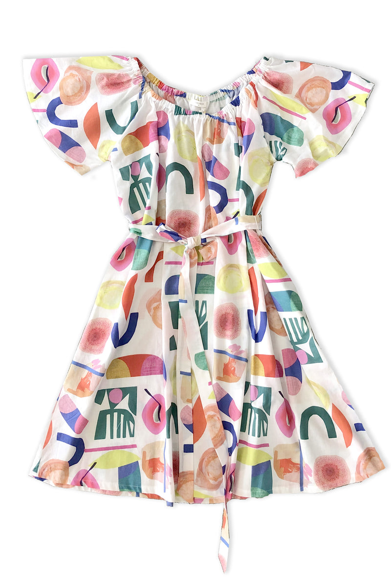Mama Butterfly Dress in Abstract