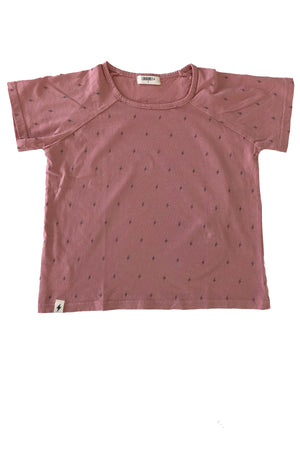 Boxy Tee in Dusty Pink Bolt